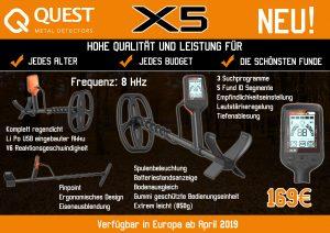 Metalldetektor Quest X5