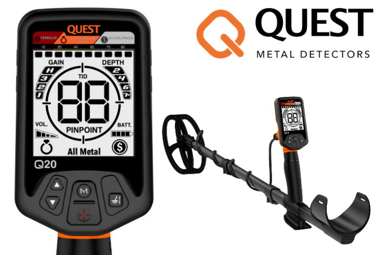 Metalldetektor Quest Q20