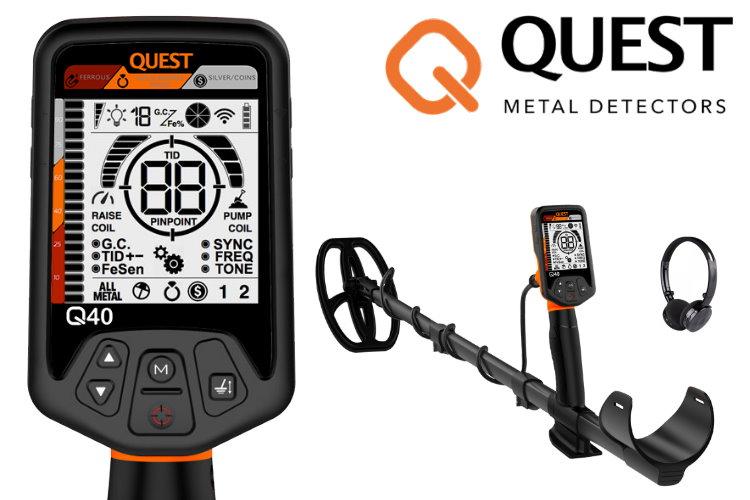 Quest Q40 Metalldetektor & Xpointer Pinpointer & Schatzsucherhandbuch